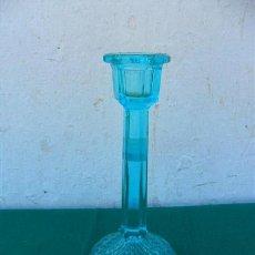 Vintage: CANDELABRO CRISTAL AZUL. Lote 64624046