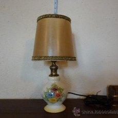 Vintage: LAMPARITA DE PORCELANA DE MANISES SIN SELLO. Lote 38425962