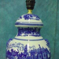 Vintage: LAMPARA PORCELANA SOBREMESA AZULES SELLO N. Lote 39622621