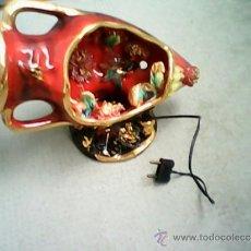 Vintage: PRECIOSA LAMPARA VINTAGE DE PORCELANA VALLAURIS-NEWDEKOR.EN ..FUNCIONAMINTO.. Lote 38996320
