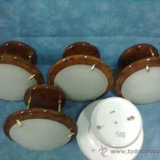 Vintage: 5 APLIQUES LAMPARAS LUZ TECHO. Lote 39040340