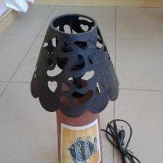 Vintage: LAMPARA CERAMICA - TULIPA EN HIERRO -. Lote 39264442