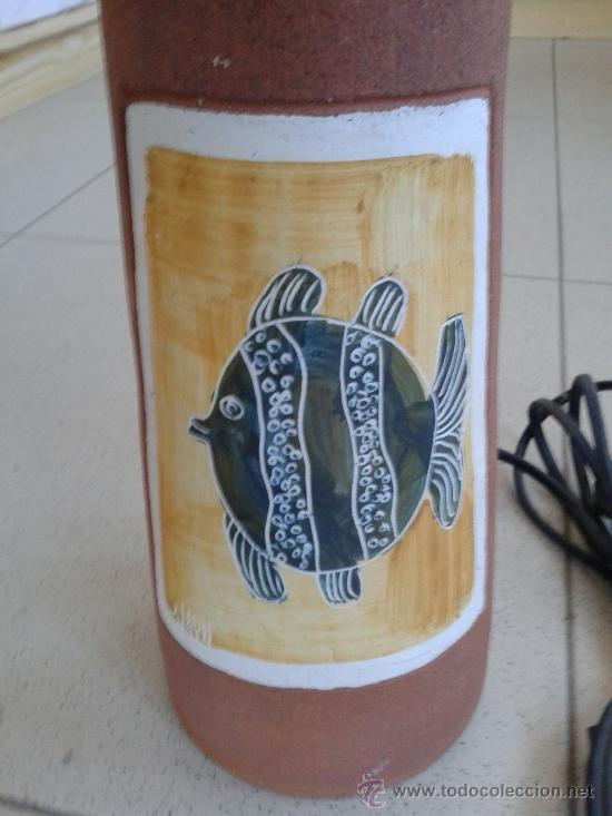 Vintage: LAMPARA CERAMICA - TULIPA EN HIERRO - - Foto 2 - 39264442