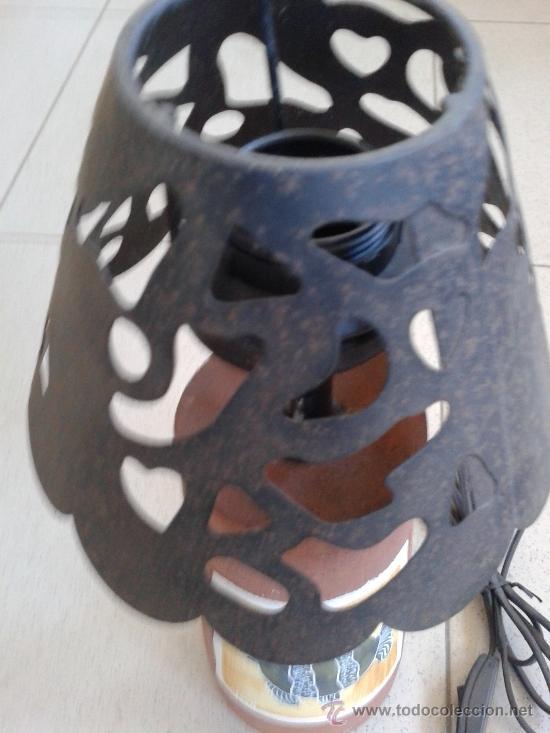 Vintage: LAMPARA CERAMICA - TULIPA EN HIERRO - - Foto 3 - 39264442