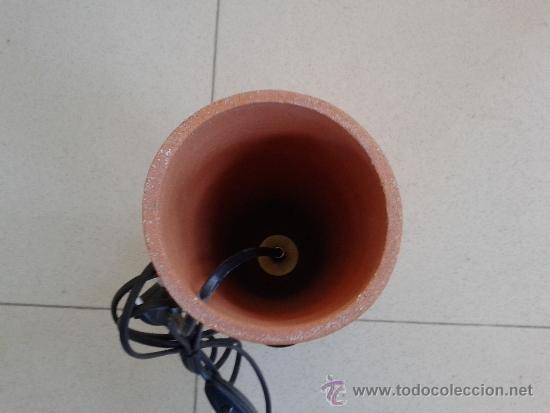 Vintage: LAMPARA CERAMICA - TULIPA EN HIERRO - - Foto 6 - 39264442