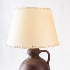 Vintage: JARRON - LAMPARA DE SOBRE MESA EN CAERAMICA CON PANTALLA. Lote 39427427