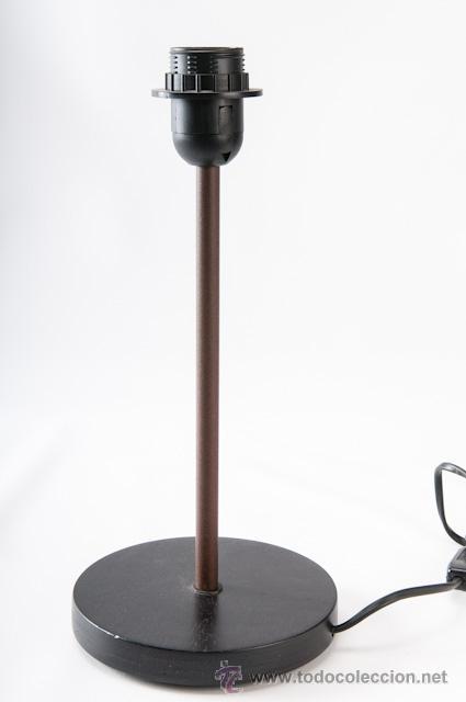 Vintage: LAMPARA DE SOBRE MESA EN HIERRO CON PANTALLA - Foto 3 - 39427442