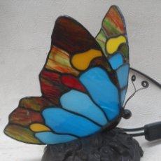 Vintage: LAMPARA VINTAGE MARIPOSA MUY BONITA ESTILO TIFFANY. Lote 113949452