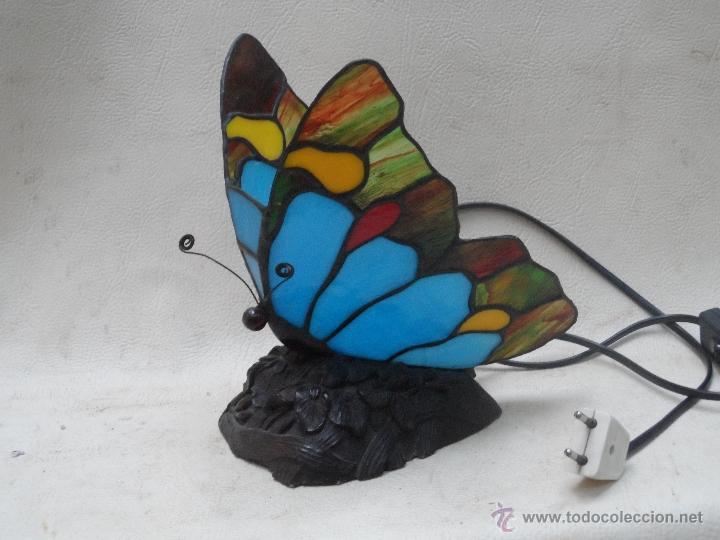 Vintage: lampara vintage mariposa muy bonita ESTILO TIFFANY - Foto 2 - 113949452