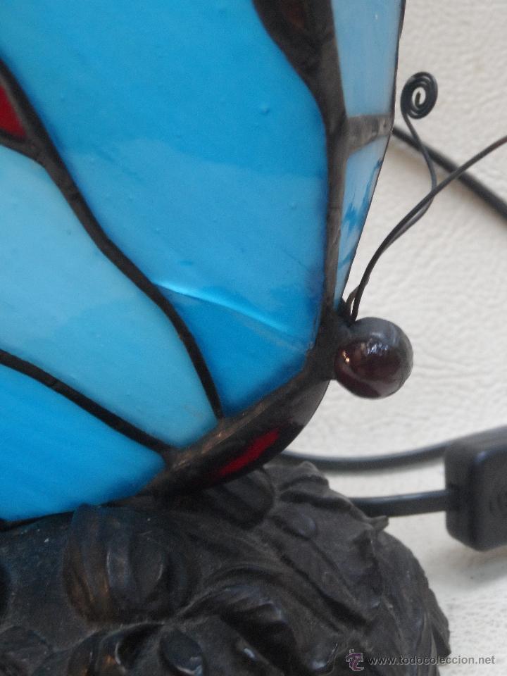Vintage: lampara vintage mariposa muy bonita ESTILO TIFFANY - Foto 3 - 113949452