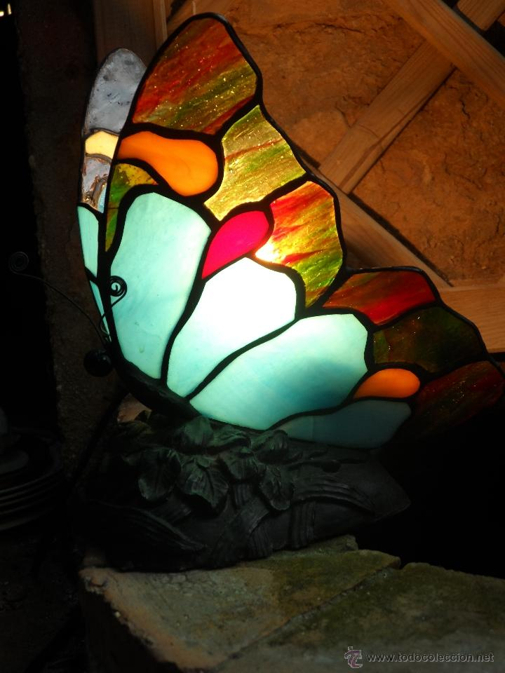 Vintage: lampara vintage mariposa muy bonita ESTILO TIFFANY - Foto 5 - 113949452
