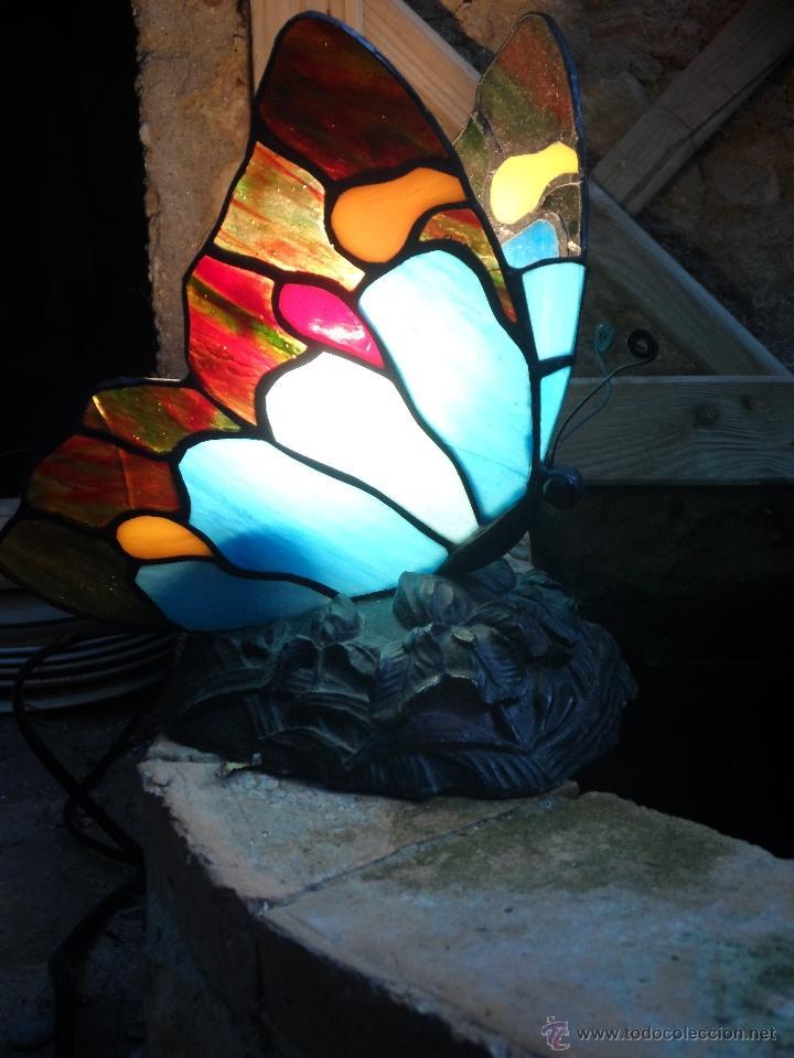 Vintage: lampara vintage mariposa muy bonita ESTILO TIFFANY - Foto 6 - 113949452