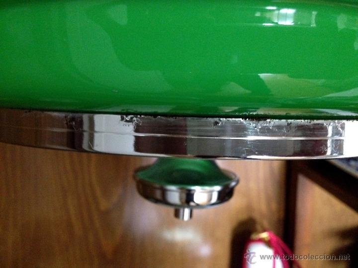 Vintage: Lámpara de techo / cocina años 70 opalina verde Hermanos Gianelli - Foto 5 - 39834946