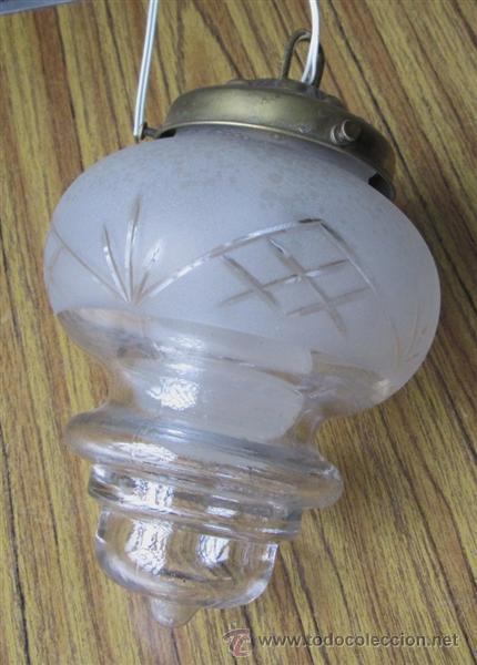 Vintage: LAMPARA – TULIPA TECHO - De cristal plafon latón - Foto 2 - 39917475