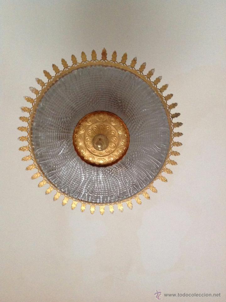 Vintage: Plafón de techo metal y cristal - Foto 2 - 36335236
