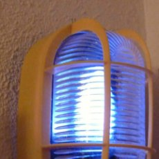 Vintage: PLAFON DE LUZ TIPO INDUSTRIAL EN PLASTICO AMARILLO. Lote 40021414