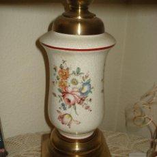 Vintage: LAMPARA DE CERAMICA PINTADA DE MANISES. Lote 40138903