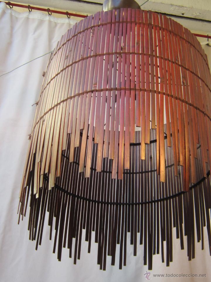 LAMPARA DE TECHO CON CAÑAS DE BAMBU (Vintage - Lámparas, Apliques, Candelabros y Faroles)