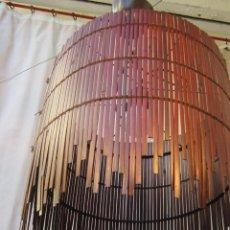Vintage: LAMPARA DE TECHO CON CAÑAS DE BAMBU. Lote 40168231