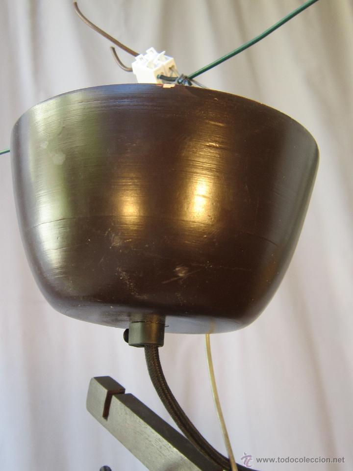 Vintage: LAMPARA DE TECHO CON CAÑAS DE BAMBU - Foto 3 - 40168231