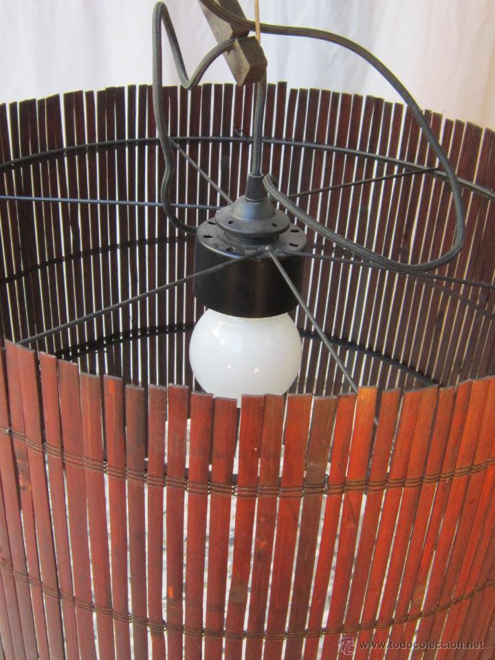 Vintage: LAMPARA DE TECHO CON CAÑAS DE BAMBU - Foto 4 - 40168231