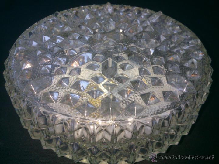 Vintage: Plafón de techo cristal tallado base metal una bombilla DIAMETRO;20CM. alto;11cm - Foto 3 - 40765979