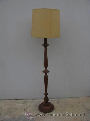 lámpara de pié, estructura de madera de haya, i - Comprar Lámparas ...