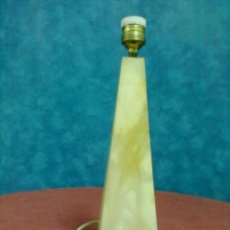 Vintage: PIRAMIDE TRUNCADA PIE DE LAMPARA ALABASTRO PARA REPASAR.. Lote 41068790