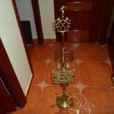 Vintage: LAMPARA DE ACEITE ELECTRIFICADA. Lote 41307866