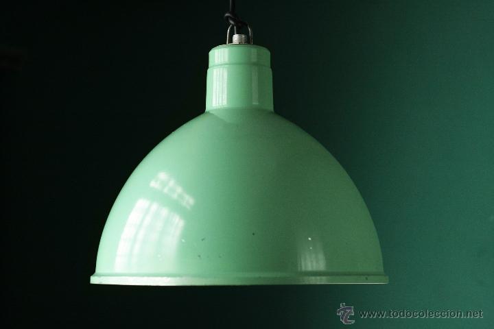vintage de industrial Sold Lámpara verde franc techo wPikZTOXu