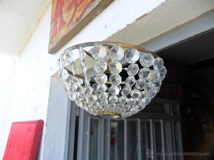 Vintage: plafon de techo de bronce y cristales - Foto 2 - 41724959