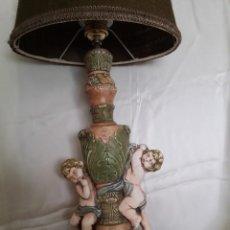 Vintage: LAMPARAS DE SOBREMESA POLICROMADAS. Lote 42173289