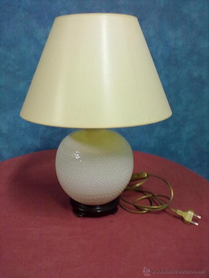 LAMPARA SOBREMESA PORCELANA ITALIANA (Vintage - Lámparas, Apliques, Candelabros y Faroles)