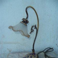 Vintage: LAMPARA DE METAL Y CERAMICA. Lote 42344937