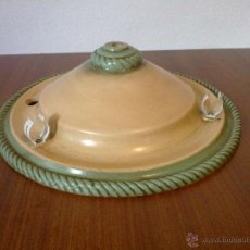 Vintage: PLAFON LAMPARA . CERAMICA TECHO . REDONDO OCRE. Lote 42468519