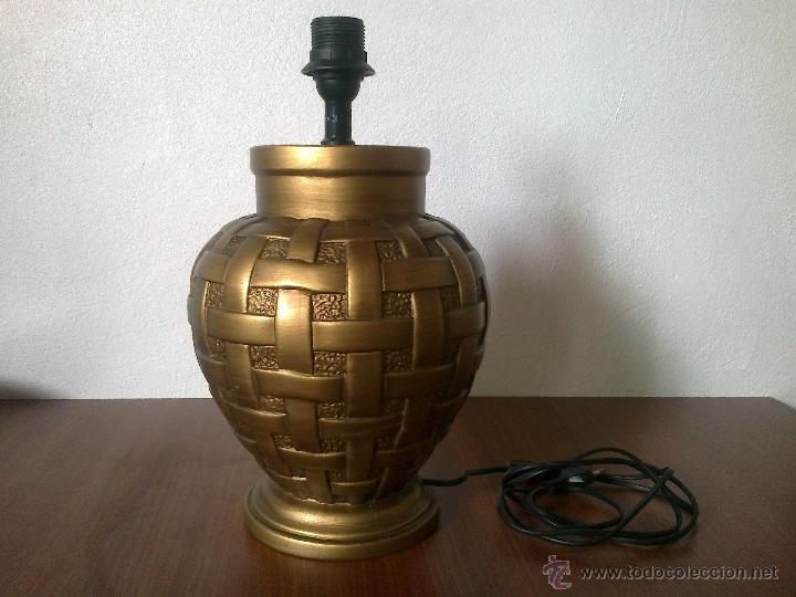LAMPARA PIE CERAMICA (Vintage - Lámparas, Apliques, Candelabros y Faroles)