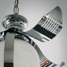 Vintage: LAMPARA GLOBO COLGANTE CROMADA PLATA SPACE AGE, TRANSPORTE GRATIS COMUNIDAD DE MADRID.. Lote 42548517