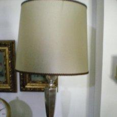 Vintage: LAMPARA DE MESA HECHA CON UN CANDELERO. Lote 42575503