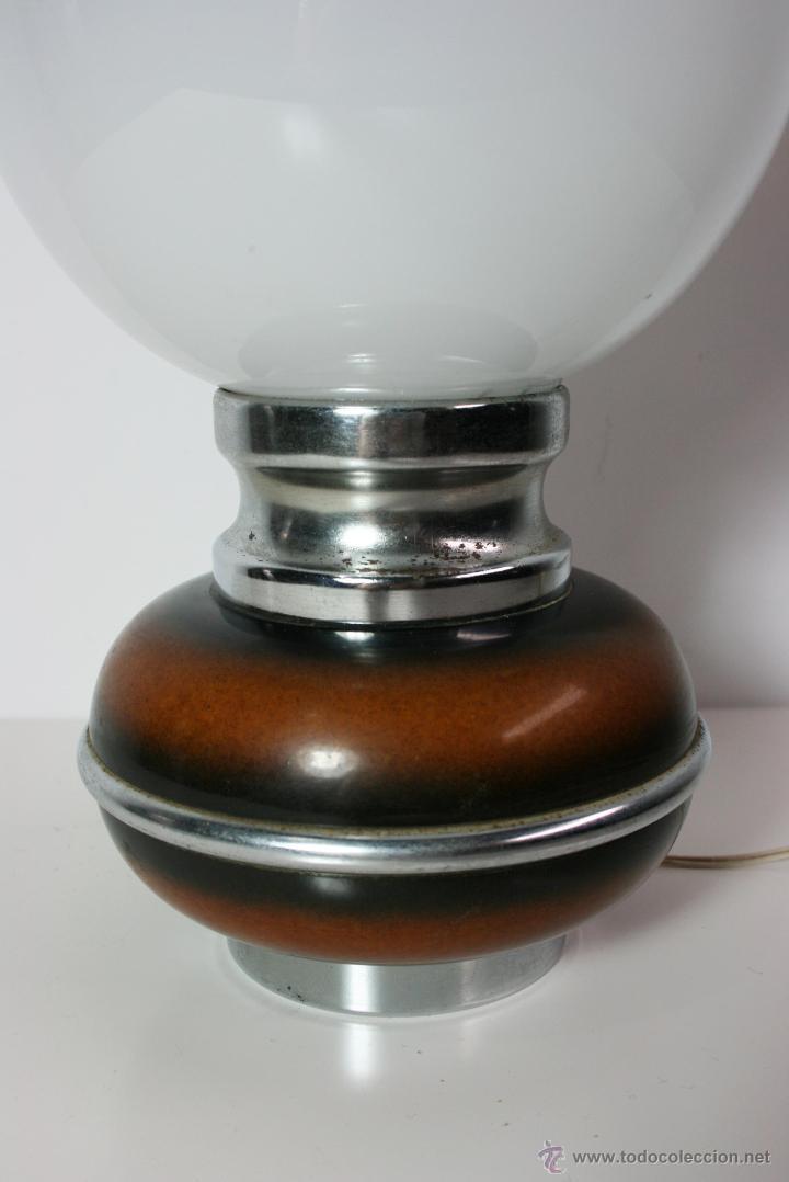 Vintage: Lámpara de mesa años 70 tulipa de globo de cristal de murano Mazzega - Foto 5 - 42829895