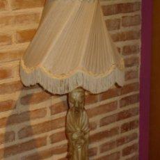 Vintage: PRECIOSA LAMPARA DE ALABASTRO O MARMOL,TALLADO.AÑOS 60.. Lote 42972568