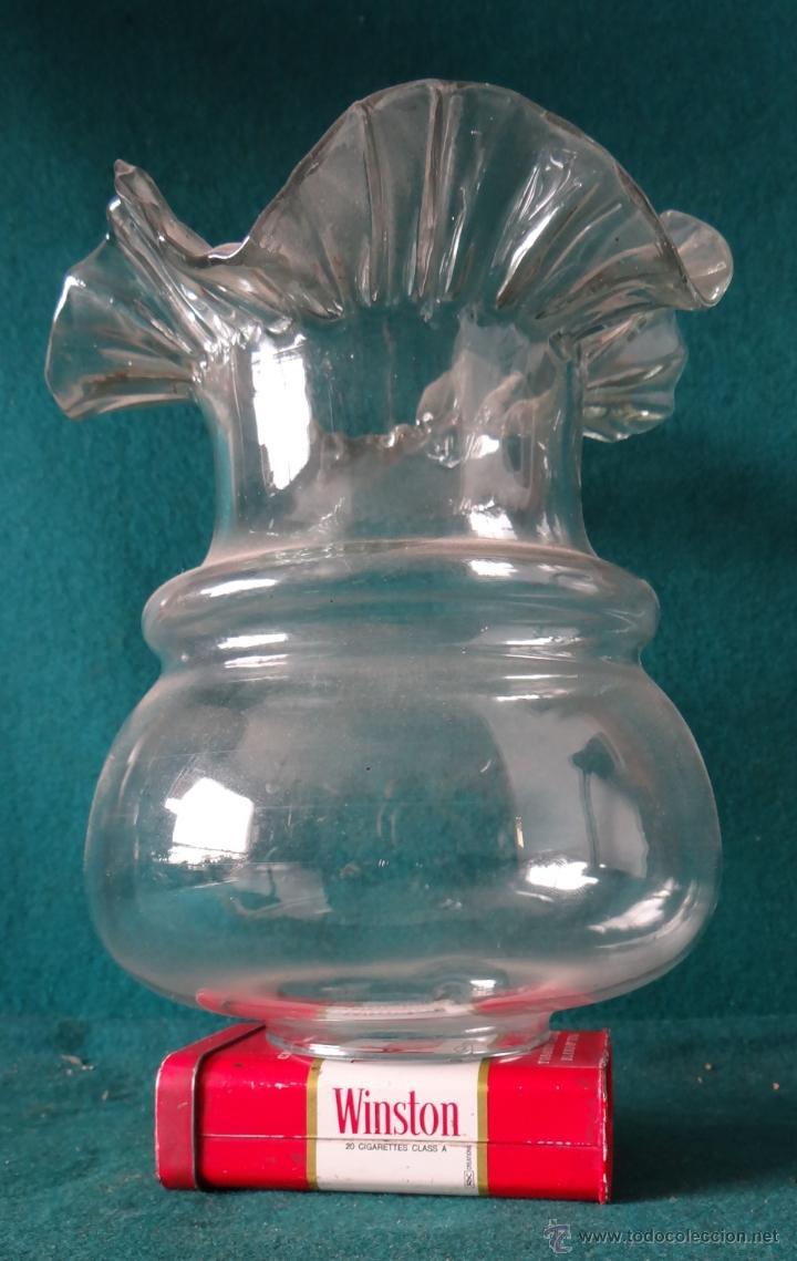 TULIPA CRISTAL PARA LAMPARA O QUINQUE (Vintage - Lámparas, Apliques, Candelabros y Faroles)