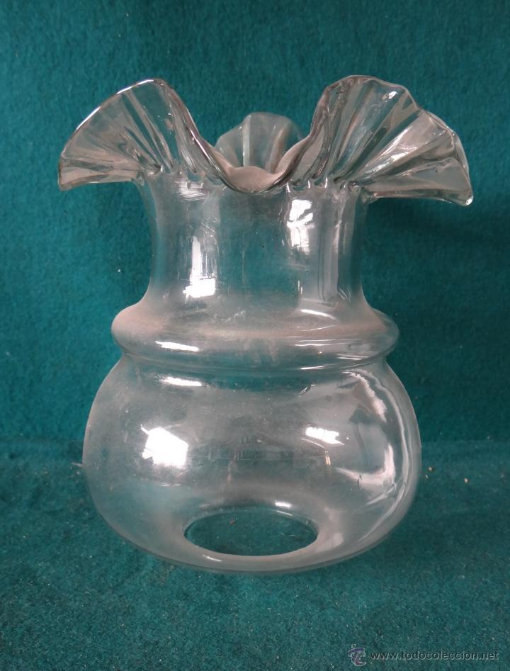 Vintage: TULIPA CRISTAL PARA LAMPARA O QUINQUE - Foto 3 - 56954911