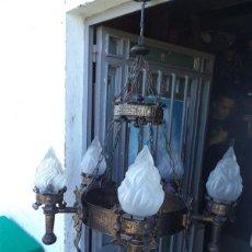 Vintage: LAMPARA RUSTICA HIERRO. Lote 43293540