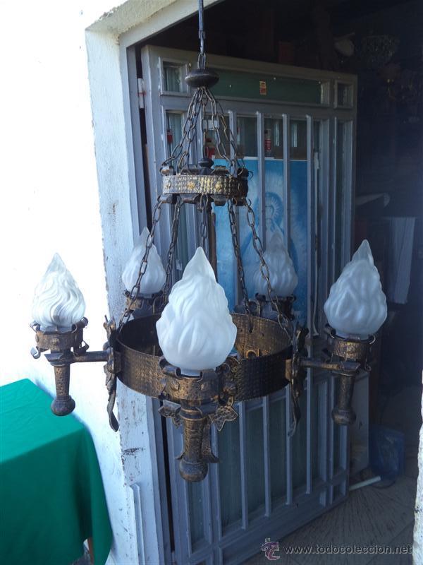 Vintage: lampara rustica hierro - Foto 2 - 43293540