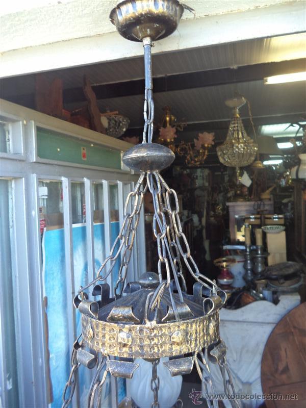 Vintage: lampara rustica hierro - Foto 5 - 43293540