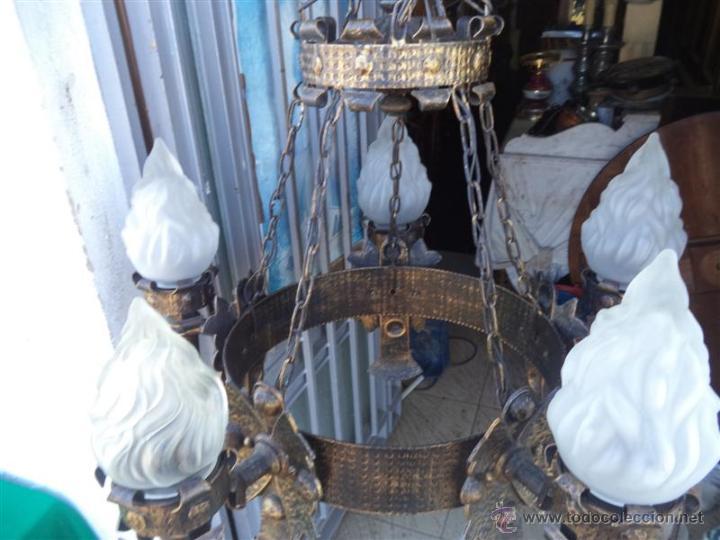Vintage: lampara rustica hierro - Foto 6 - 43293540