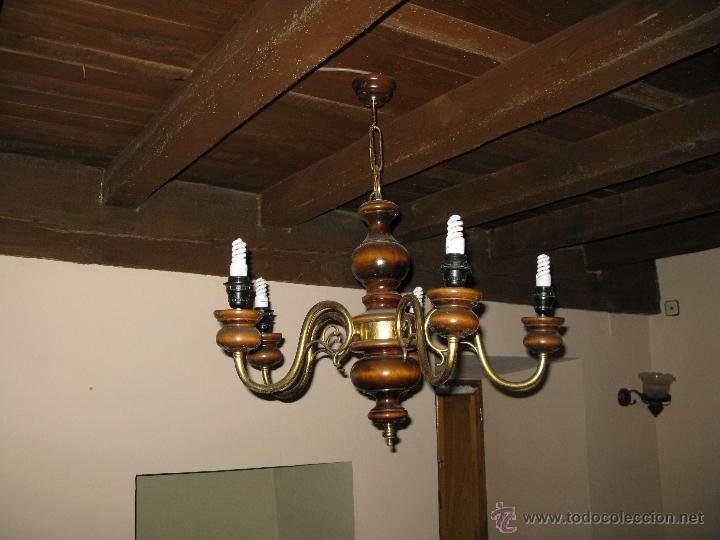 lmpara de techo madera y metal Comprar Lmparas vintage apliques