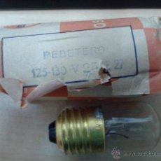 Vintage: BOMBILLA OSRAM 125- 130 V. Lote 43350452