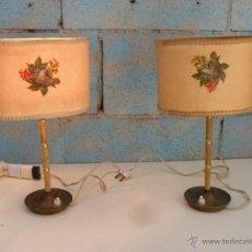 Vintage: PRECIOSAS LAMPARAS MESILLA NOCHE ANTIUGAS,AÑOS 60,VINTAGE,RETRO,FUNCIONAN. Lote 43366380