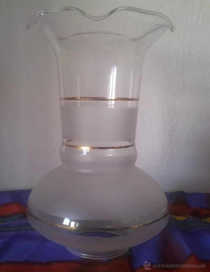 TULIPA QUINQUE PARA LAMPARA (Vintage - Lámparas, Apliques, Candelabros y Faroles)